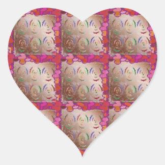 Corações do LAÇO do amor Adesivo Coração
