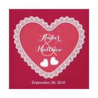 Corações do laço que Wedding matiz da lembrança do