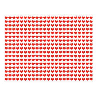 Corações do vermelho do amor cartão postal