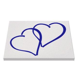 Corações dobro azuis