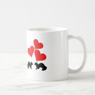 Corações & doninhas caneca de café