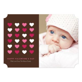 Corações dos namorados | Brown Convite 12.7 X 17.78cm