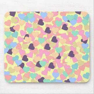 corações dos namorados mouse pad