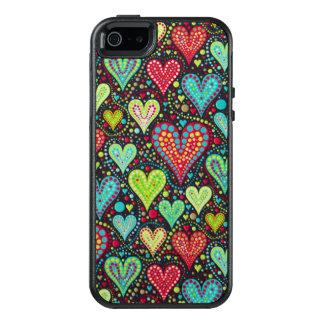 Corações e design coloridos doces dos pontos