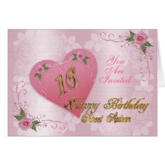 Corações e rosas cor-de-rosa do convite de festas