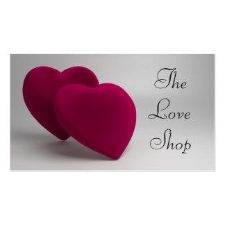 Corações elegantes do amor cartão de visita