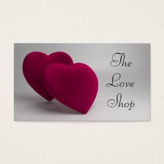 Corações elegantes do amor cartão de visitas