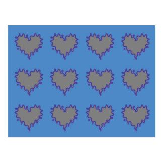 Corações encaracolado cinzentos da borda no cartão