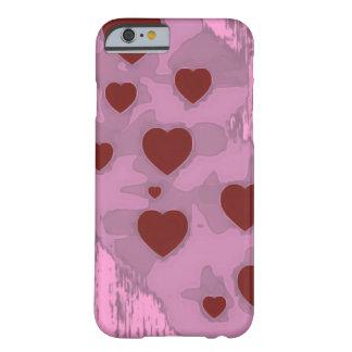 Corações esboçado capa barely there para iPhone 6