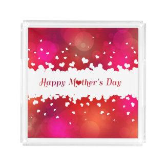 Corações felizes bonitos do dia das mães - bandeja