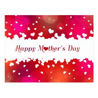 Corações felizes bonitos do dia das mães - cartão