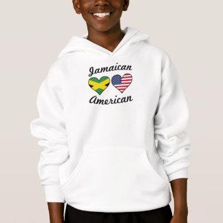 Corações jamaicanos da bandeira americana