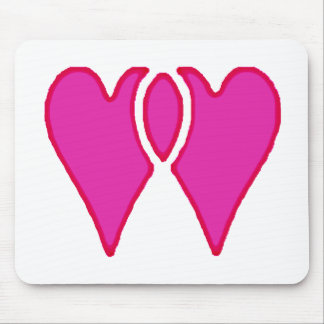 Corações junto os presentes de Zazzle do MUSEU Mousepad