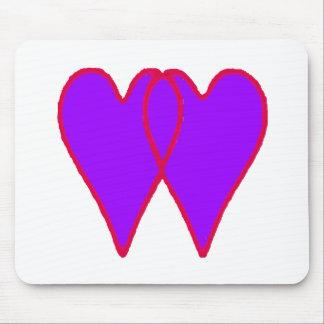 Corações junto os presentes de Zazzle do MUSEU Mousepads