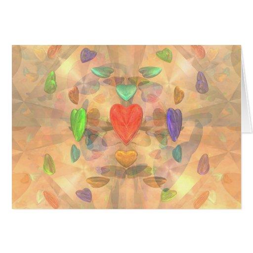 Corações marcianos cartões