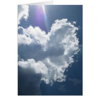 Corações nos cartões do céu (1)