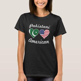 Corações paquistaneses da bandeira americana camiseta
