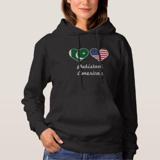 Corações paquistaneses da bandeira americana moletom