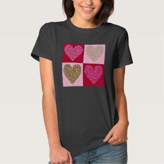 Corações Pastel femininos T-shirts
