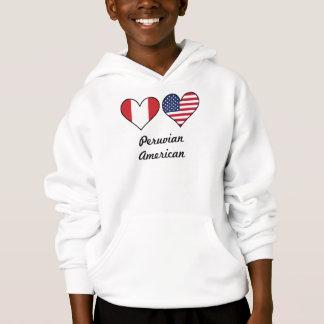 Corações peruanos da bandeira americana