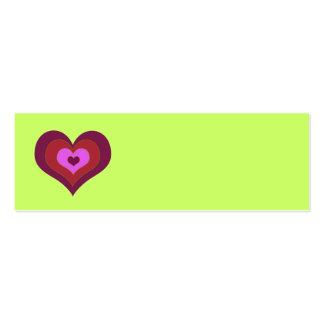 Corações Placecards do assentamento Cartões De Visita