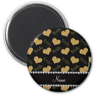 Corações pretos conhecidos feitos sob encomenda da ímã redondo 5.08cm