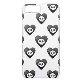 Corações pretos pequenos capa iPhone 7 plus