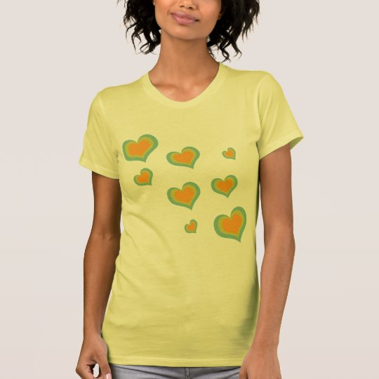 Corações retros do amor para o dia dos namorados camiseta
