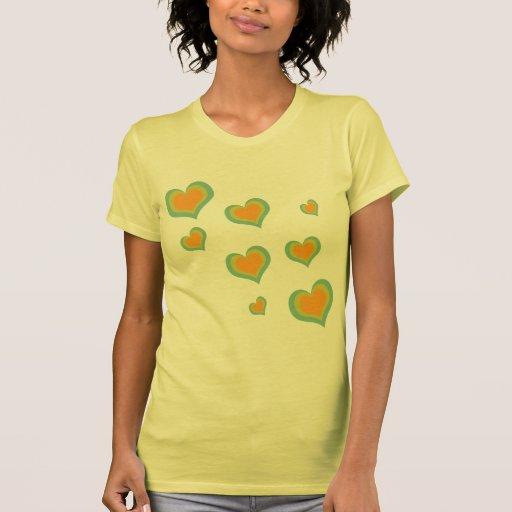 Corações retros do amor para o dia dos namorados tshirt