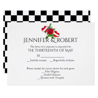 Corações Rockabilly e cartão cor-de-rosa da Convite 8.89 X 12.7cm