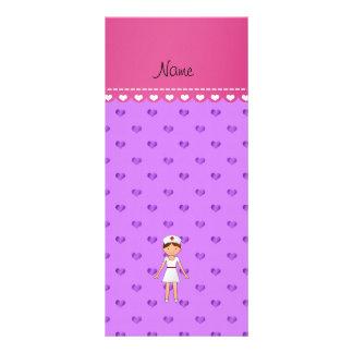 Corações roxos pastel personalizados da enfermeira planfetos informativos coloridos