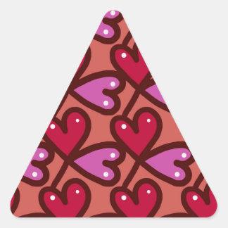 Corações sem emenda #2 adesivo triangular
