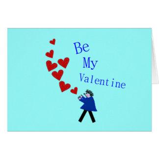 Corações vermelhos grandes - cartão dos namorados