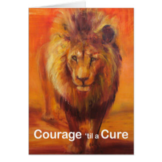 Coragem 'até um cartão de nota da cura