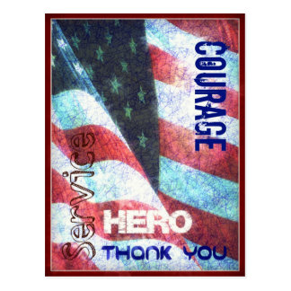 Coragem-Herói-Obrigado você cartão do dia de