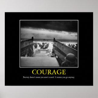 Pôster Coragem -- Impressão do dia D