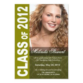 Corajoso, anúncio 2012 da foto da graduação do convite personalizados
