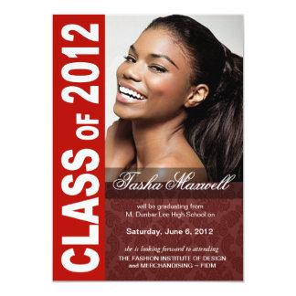 Corajoso, anúncio 2012 da foto da graduação do convites