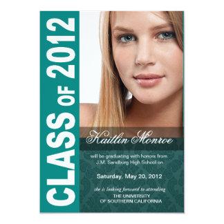 Corajoso, anúncio 2012 da foto da graduação do convite
