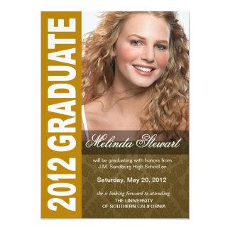 Corajoso, anúncio 2012 da foto da graduação do convites personalizado