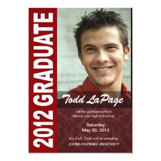 Corajoso, anúncio 2012 da foto da graduação do convites personalizados
