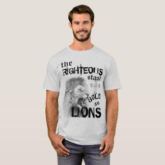 Corajoso como leões camiseta