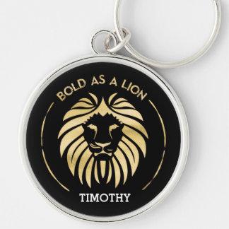 Corajoso como um chaveiro do leão