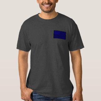 Corajoso como uma camisa fina de Blue Line do leão T-shirt