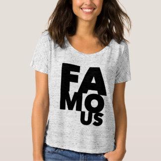 Corajoso preto famoso camiseta