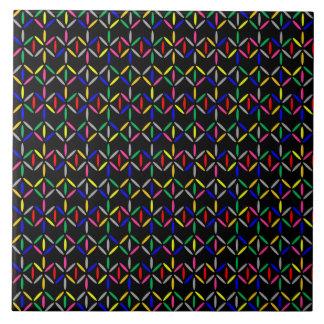 corajoso retro funky em azulejos pretos