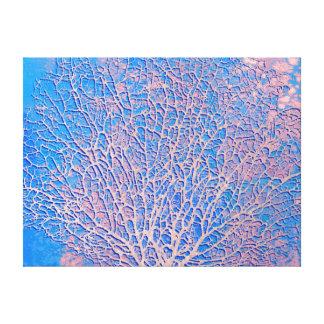 Coral abstrato do fã impressão em tela