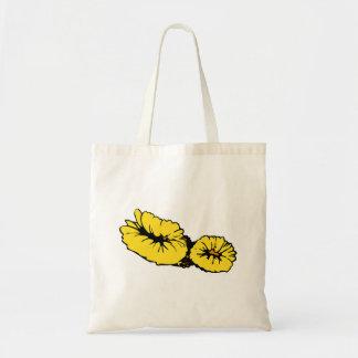 Coral amarelo bolsa de lona