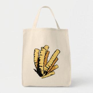 Coral amarelo bolsas de lona