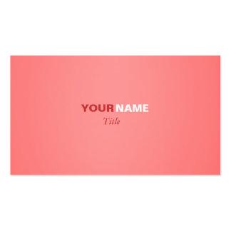 Coral claro cartão de visita